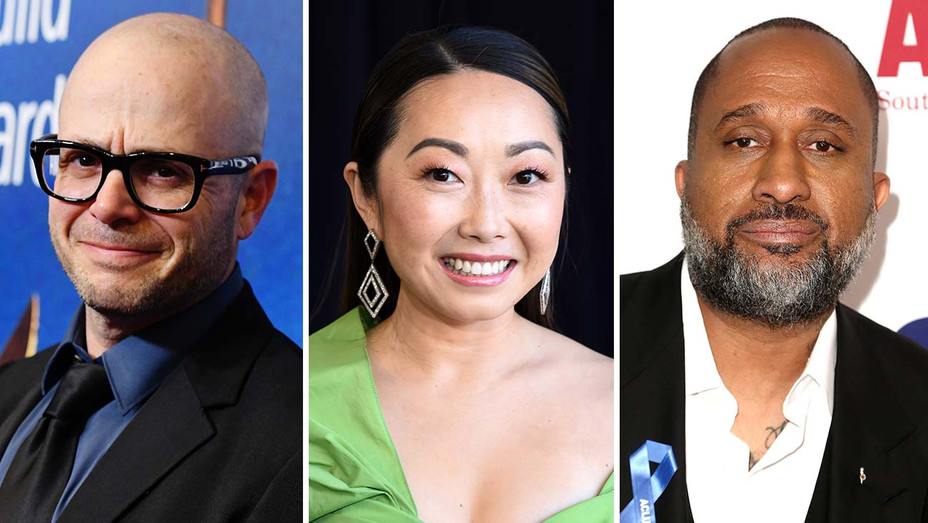 Damon Lindelof, Lulu Wang and Kenya Barris -Split-Getty-H 20210