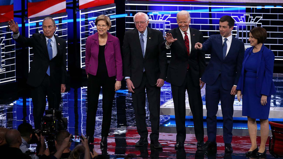 Democratic presidential candidates_Democratic Debate 02-19-20 - Getty - H 2020