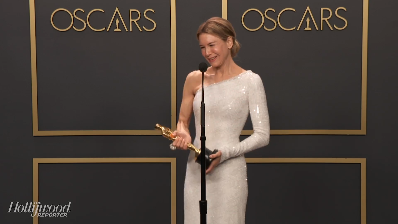 Renée Zellweger Discusses Best Actress Win For 'Judy' Backstage at 2020 Oscars