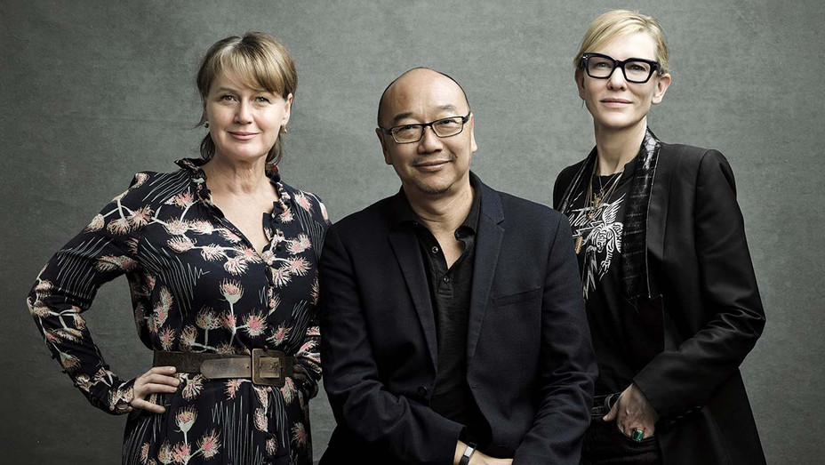 Elise McCredie, Tony Ayres and Cate Blanchett — Publicity — H 2020