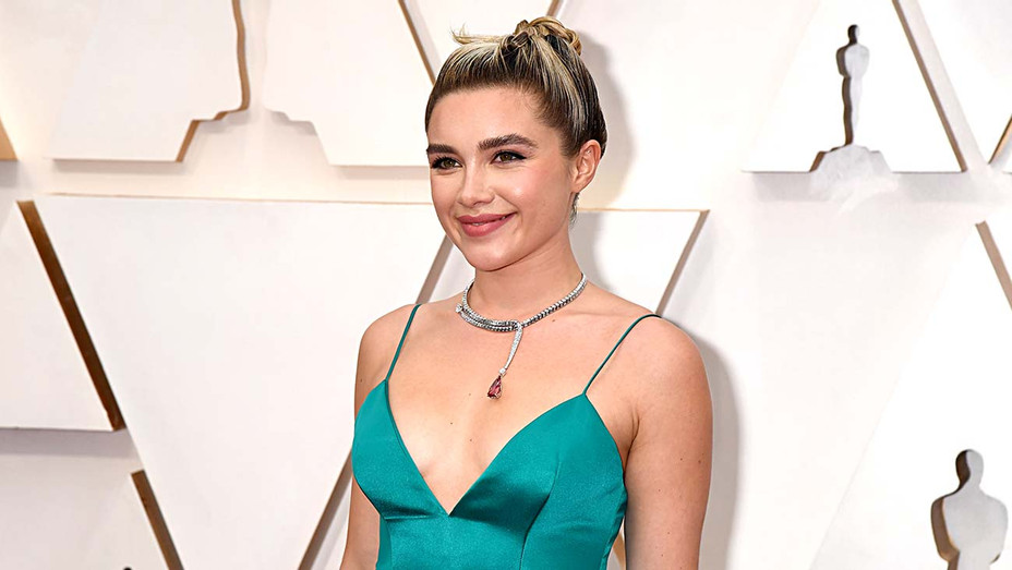 Florence Pugh attends the 92nd Annual Academy Awards - Getty - H 2020