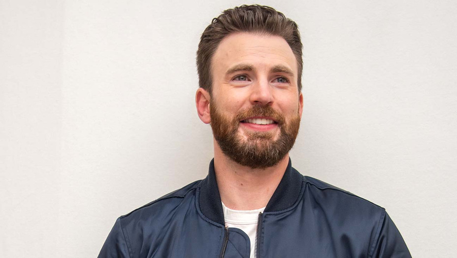 Chris Evans at the Knives Out Press Conference - Getty-H 2020
