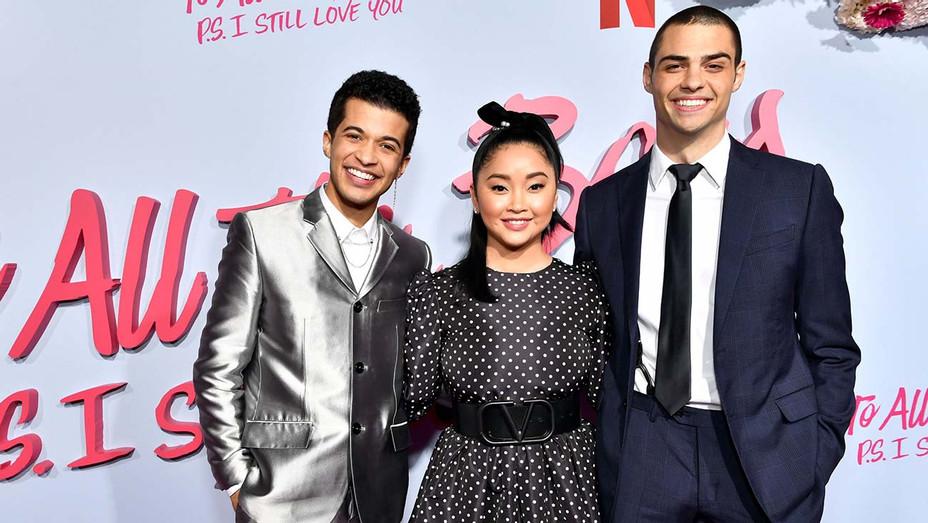 Jordan Fisher Lana Condor Noah Centineo Netflix Premiere To All the Boys - Getty - H 2020