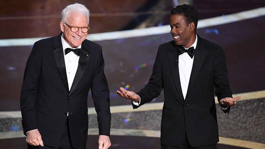 Steve Martin and Chris Rock speak onstage during the 92nd Annual Academy Awards  2- Getty -H 2020