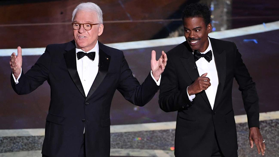 Steve Martin and Chris Rock speak onstage during the 92nd Annual Academy Awards 4- Getty -H 2020