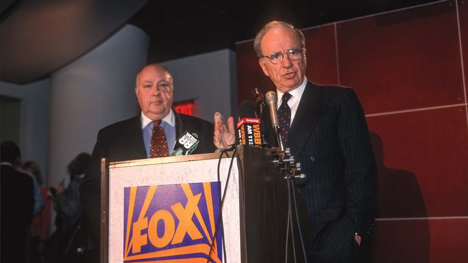 ONE TIME USE ONLY -Rupert Murdoch names Roger Ailes as the head of Fox News, January 30, 1996 - Getty-H 2020