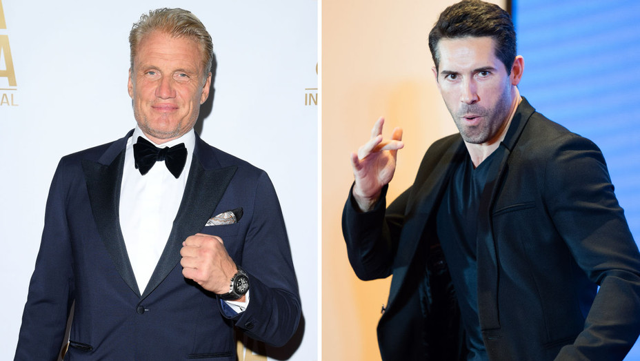 Dolph Lundgren, Scott Adkins Split - Getty H - 2020