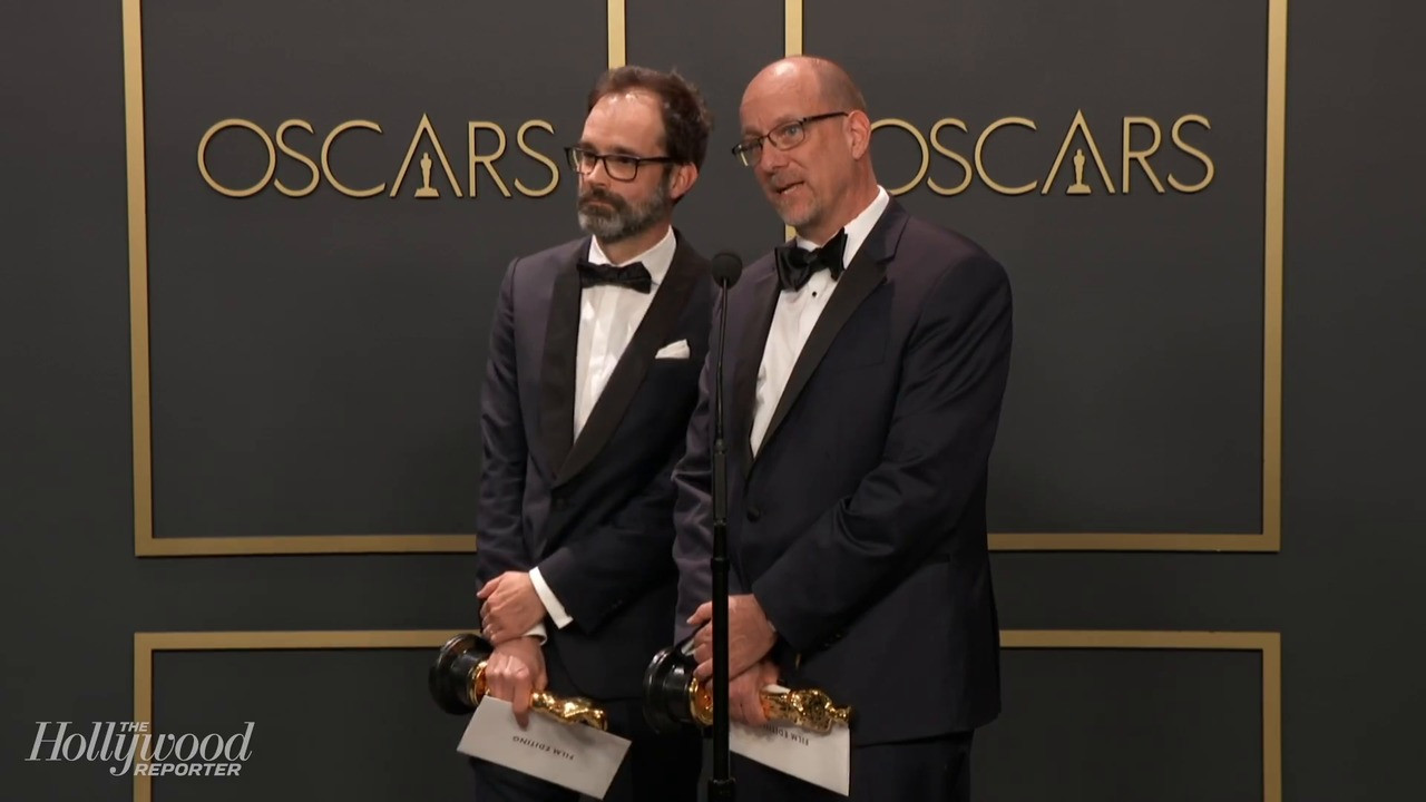 'Ford v Ferrari' Editors Talk Win Backstage at Oscars 2020