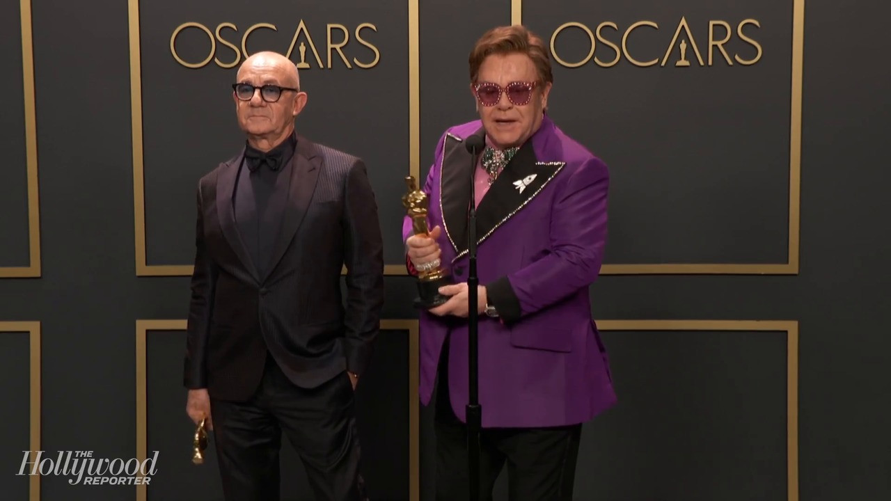 Elton John and Bernie Taupin Discuss Best Original Song Win for 'Rocketman' Backstage at Oscars 2020