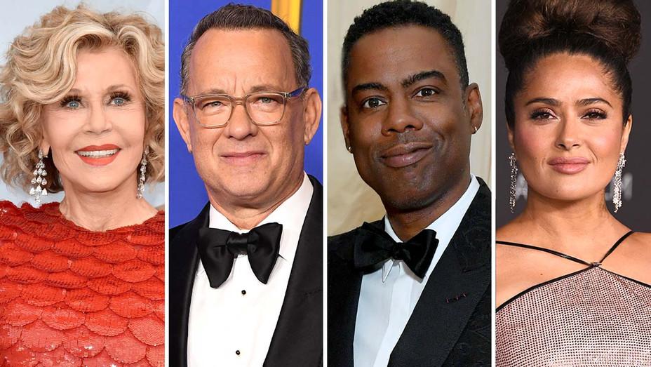 Jane Fonda, Tom Hanks, Chris Rock, Salma Hayek -Split-Getty-H 2020