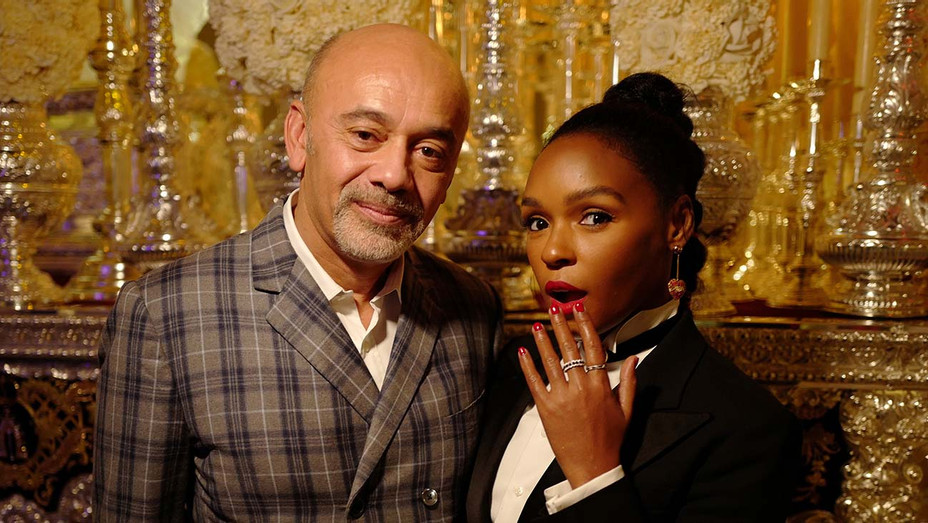 Janelle Monae and Christian Louboutin at the opening of L'Exhibition - Publicity -H 2020