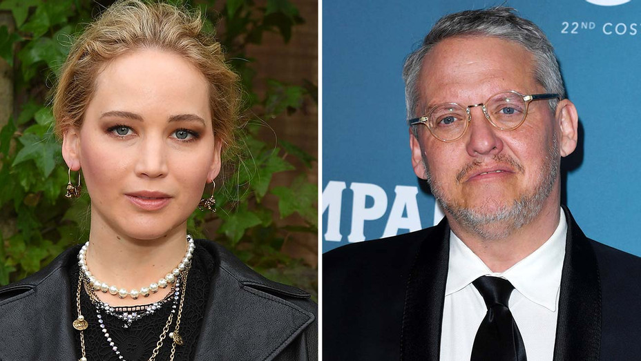 Jennifer Lawrence and  Adam McKay  Split -Getty-H 2020