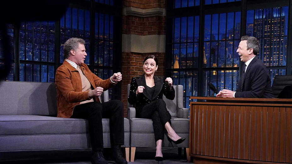 LATE NIGHT WITH SETH MEYERS - Comedian Will Ferrell, actress Julia Louis-Dreyfus - Publicity Still - H 2020