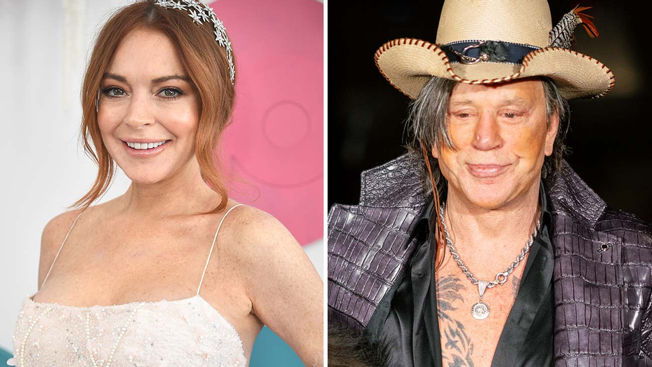 Lindsay Lohan Mickey Rourke Split - Getty - H 2020