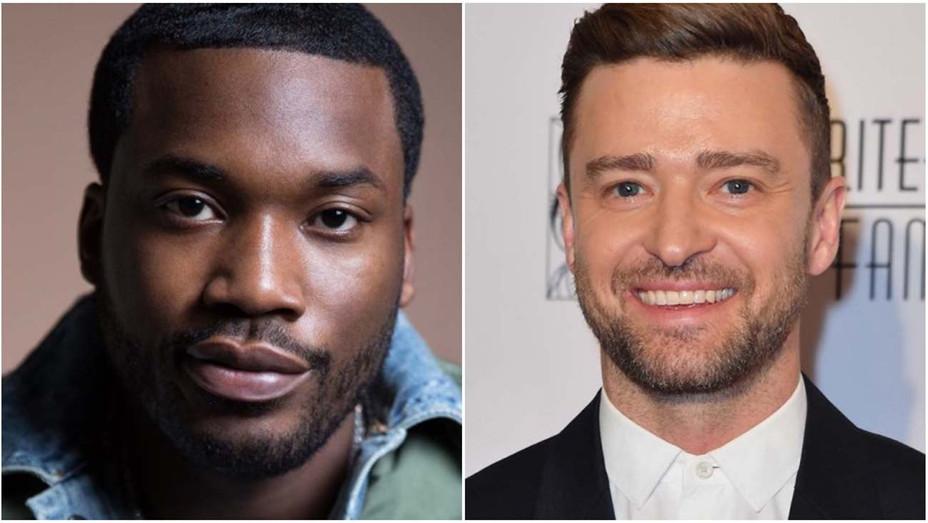 Meek Mill and Justin Timberlake SPLIT — Getty — H 2020
