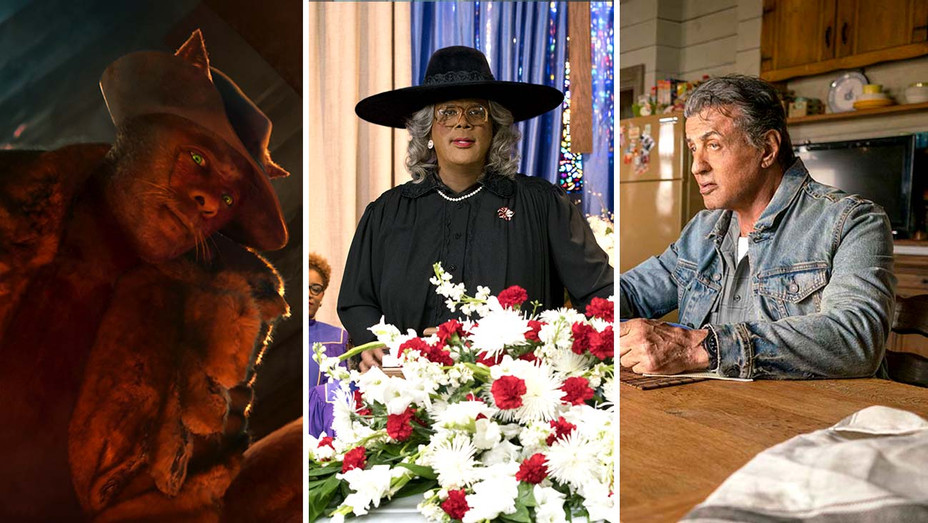 new - Cats - Madea Family Funeral - Rambo Last Blood- Publicity Stills - Split - H 2020
