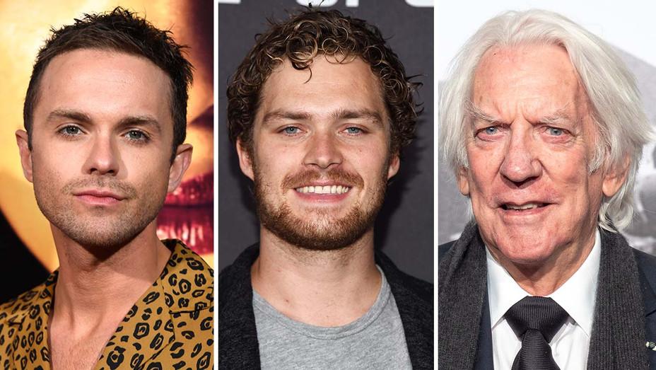 NEW Thomas Dekker, Finn Jones and Donald Sutherland- Split-Getty-H 2020