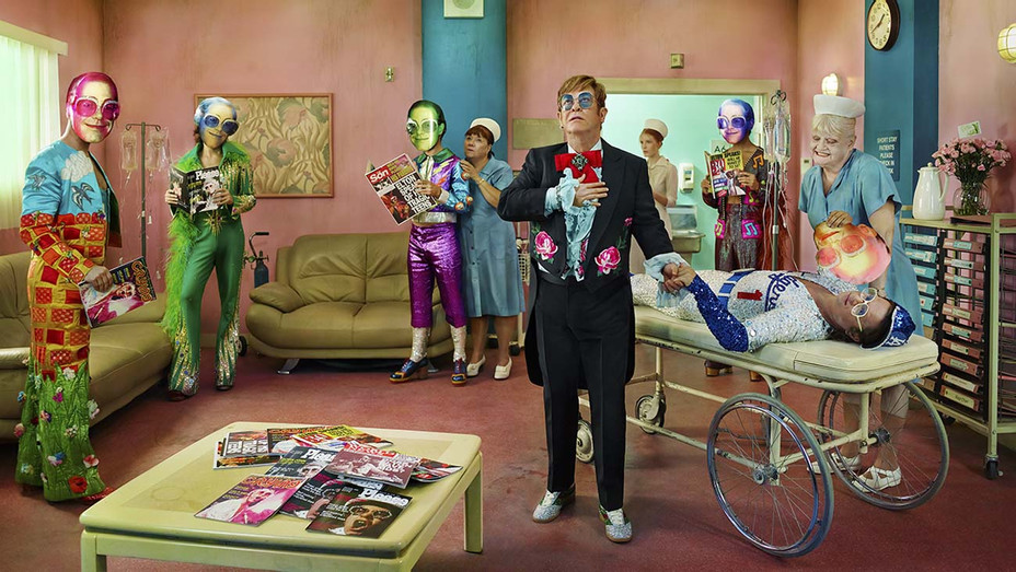 ONE TIME USE ONLY -HOLLYWOOD BABYLON - David LaChapelle, Elton John- Someone Saved My Life Tonight, 2017- Publicity - H 2020