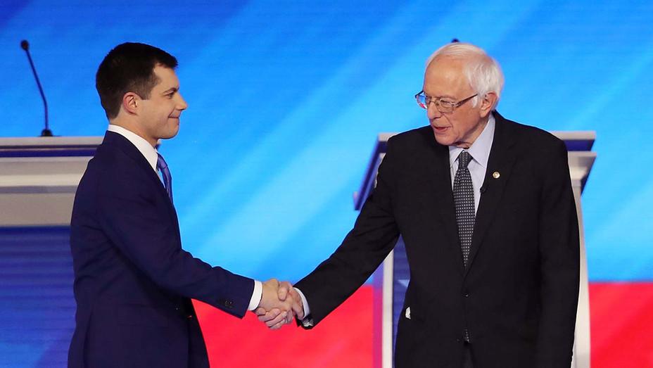 Pete Buttigieg_Bernie Sanders_Democratic Debate 02-07-20 - Getty - H 2020