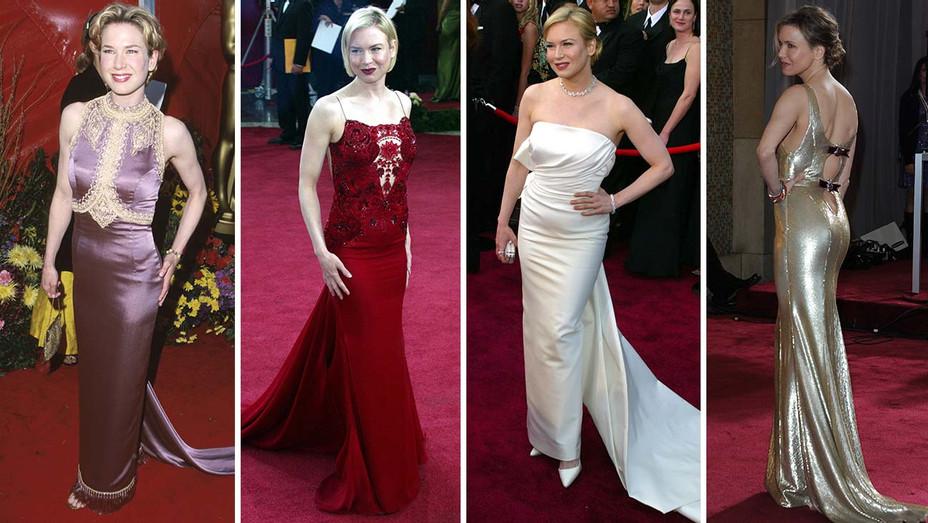 Renee Zellweger Oscars 1999 2003 2004 2013 - Gettty - H 2020