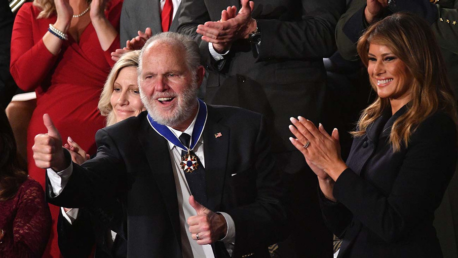 Rush Limbaugh Medal of Freedom - Getty - H 2020
