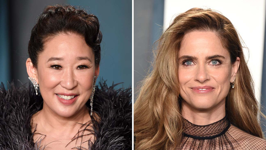 Sandra Oh and Amanda Peet_Split - Getty - H 2020