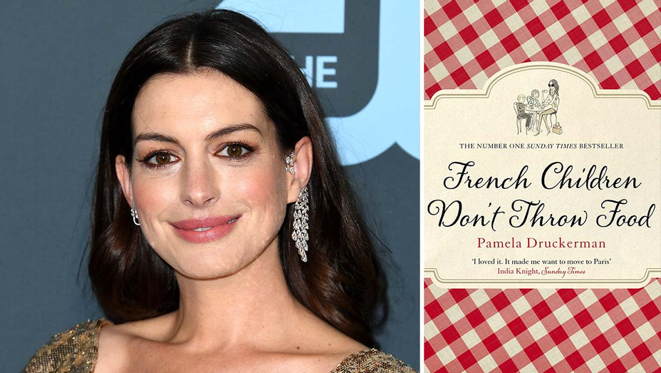 Anne Hathaway - French Children Don't Throw Food book cover -Getty - Publicity - H 2020