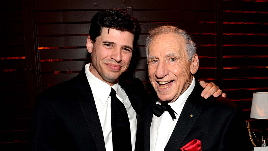 Author-Actor Max Brooks and honoree Mel Brooks  - Getty - H 2020