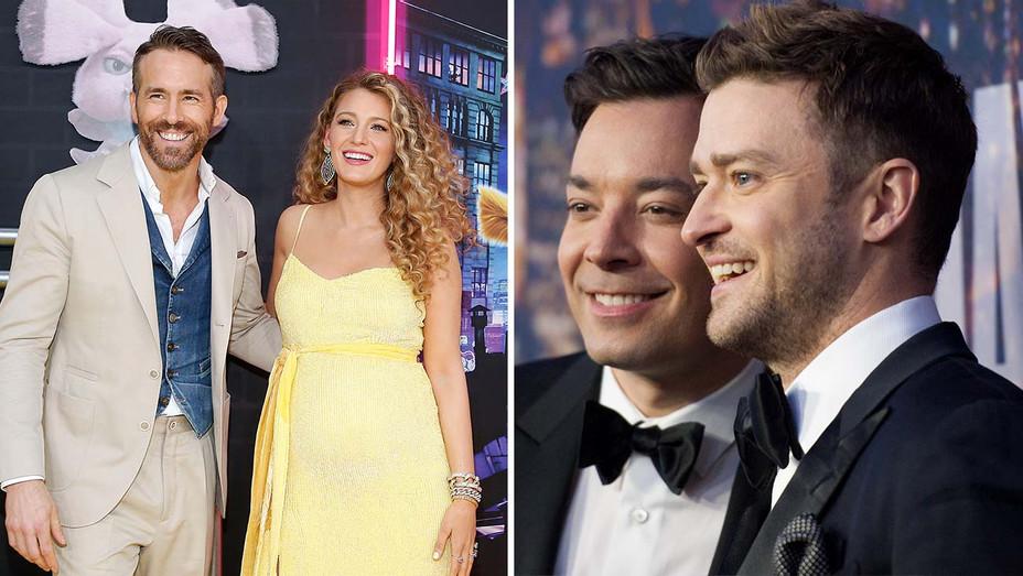 Blake Lively - Ryan Reynolds- Justin Timberlake - Jimmy Fallon - Getty- SPlit - H 2020