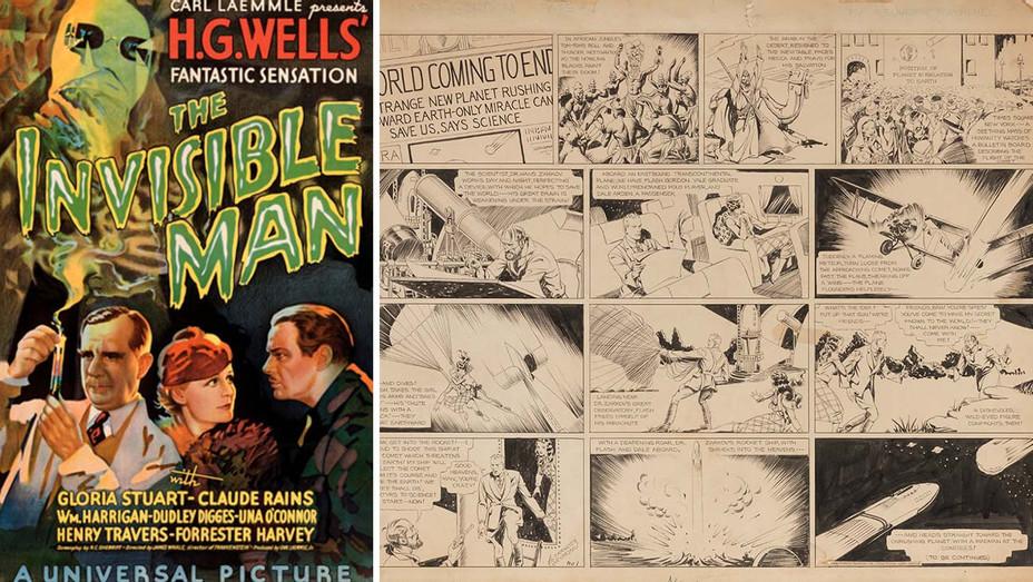 Flash Gordon art, Invisible Man poster - Publicity - Split - H 2020