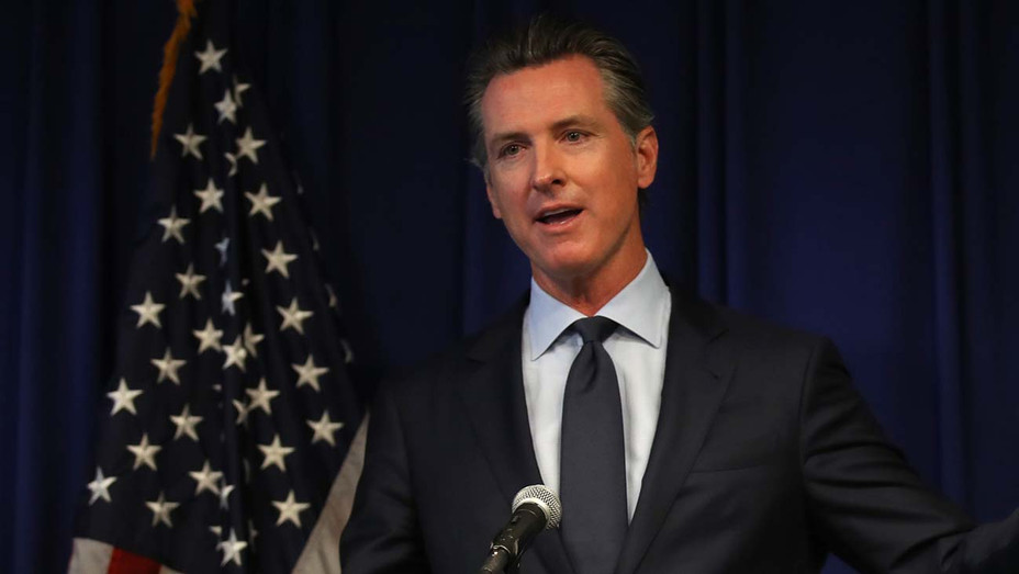 Gavin Newsom - news conference at the California justice department on September 18, 2019 - Getty 2 - H 2020