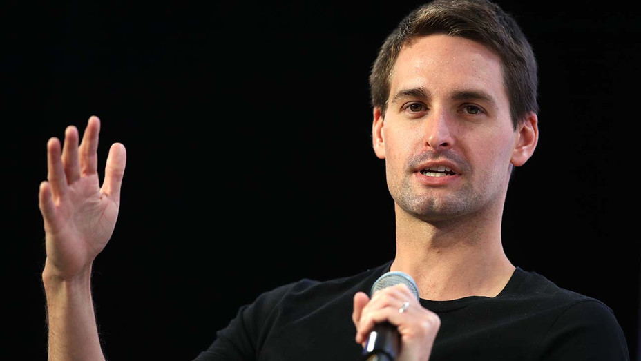 Evan Spiegel speaks during the Disrupt SF 2019 conference - Getty -H 2020