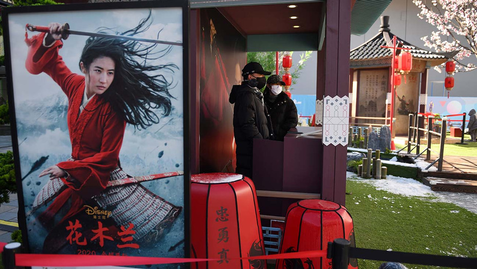 "Disney movie ""Mulan"" in an almost empty shopping mall - Getty -H 2020"