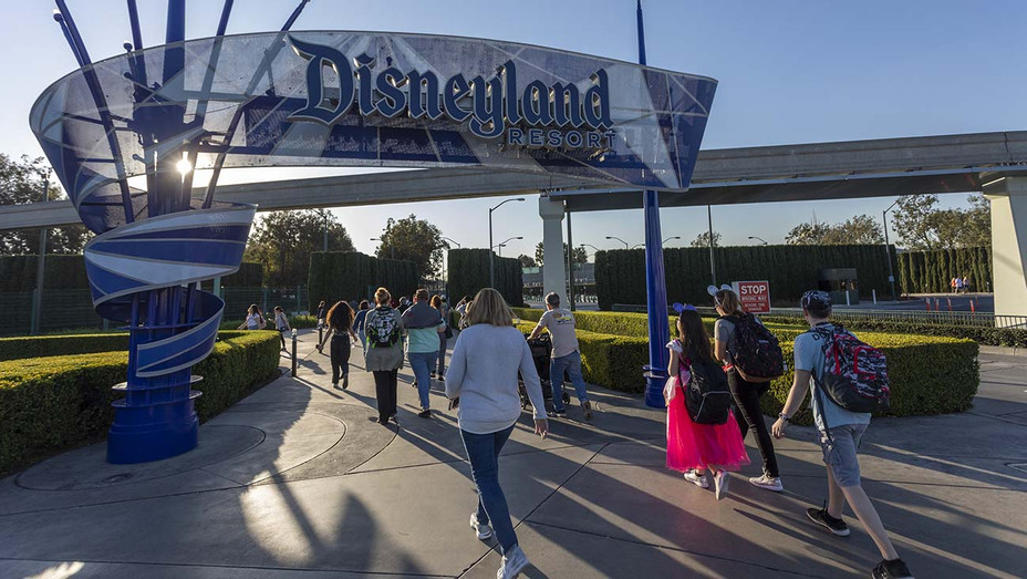 Visitors attend Disneyland Park on February 25, 2020 in Anaheim, California 2 - Getty-H 2020