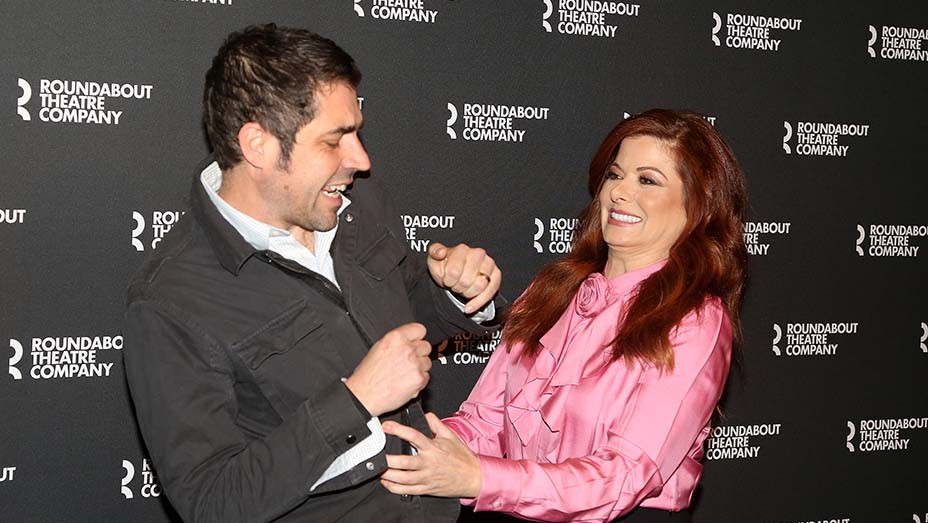 Noah Haidle and Debra Messing - photo call for Birthday Candles -  March 12, 2020 -Getty-EMBED 2020