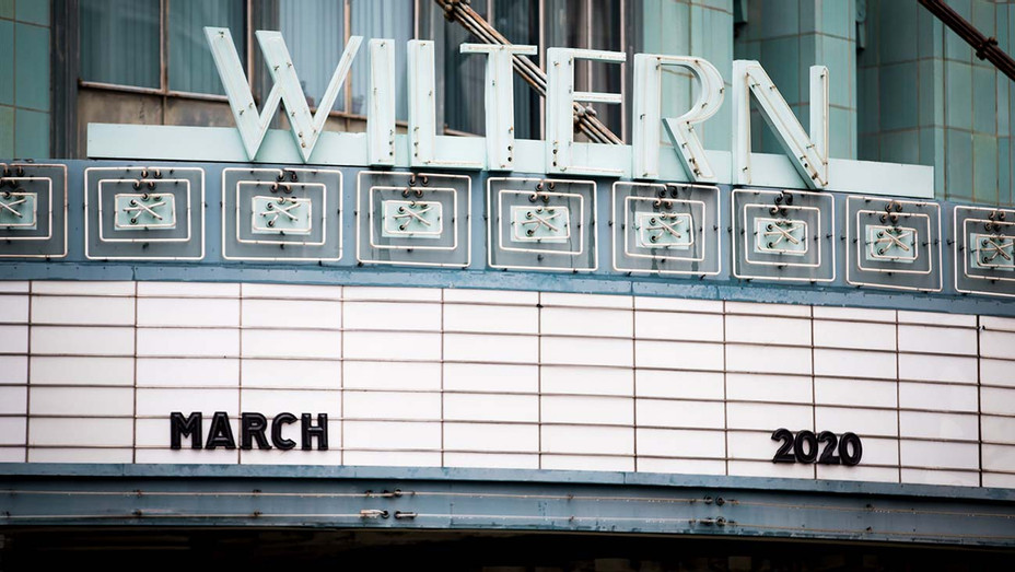 Wiltern theatre -empty marquee is seen on March 13, 2020 in Hollywood, California - Getty-H 2020