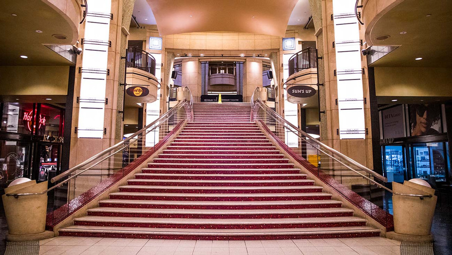 Hollywood & Highland complex on March 13, 2020 - empty staircase  - Getty-H 2020