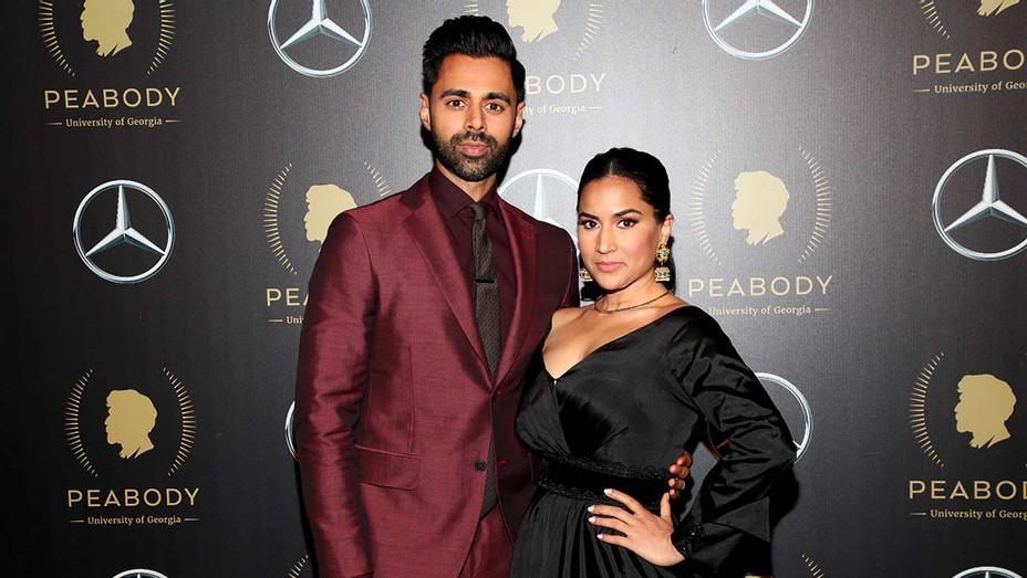 Hasan Minhaj and Beena Patel - Getty - H 2020
