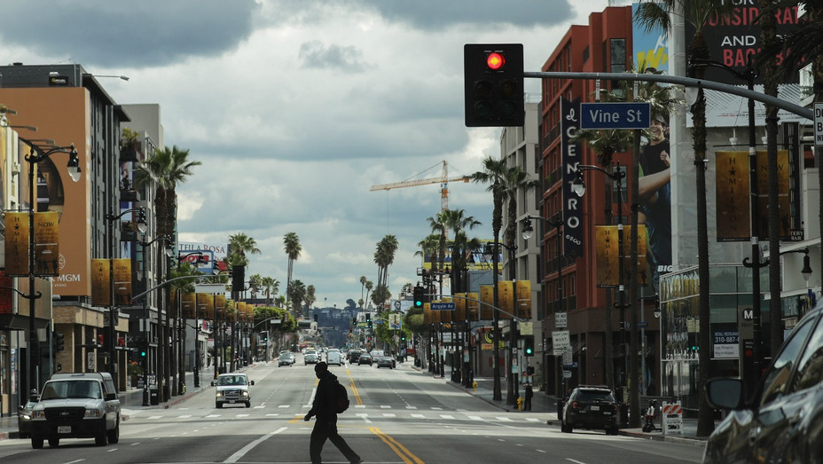 Hollywood Blvd March 25 2020