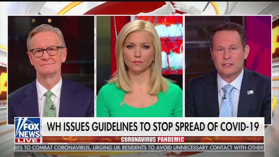 WH Issues Guidelines to stop Spread of Coronavirus - Screen shot Fox News-H 2020