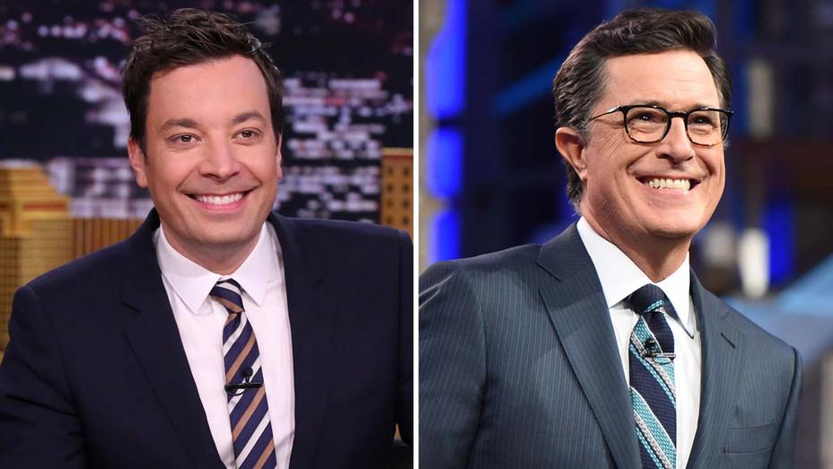 Jimmy Fallon and Stephen Colbert - Split- H 2020