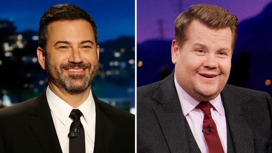 Jimmy Kimmel and James Corden- Publicity -Split-H 2020