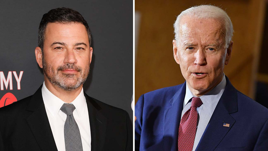 Jimmy Kimmel and Joe Biden_Split - Getty - H 2020