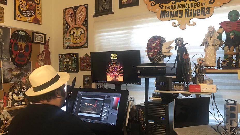 Jorge Gutierrez at work at home - Publicity - H 2020