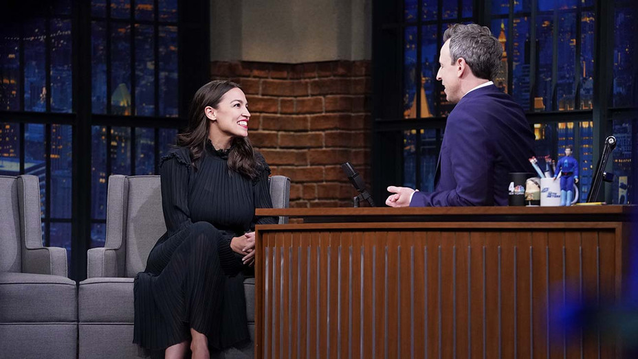 LATE NIGHT WITH SETH MEYERS- U.S. Rep. Alexandria Ocasio-Cortez - Publicity Still - H 2020