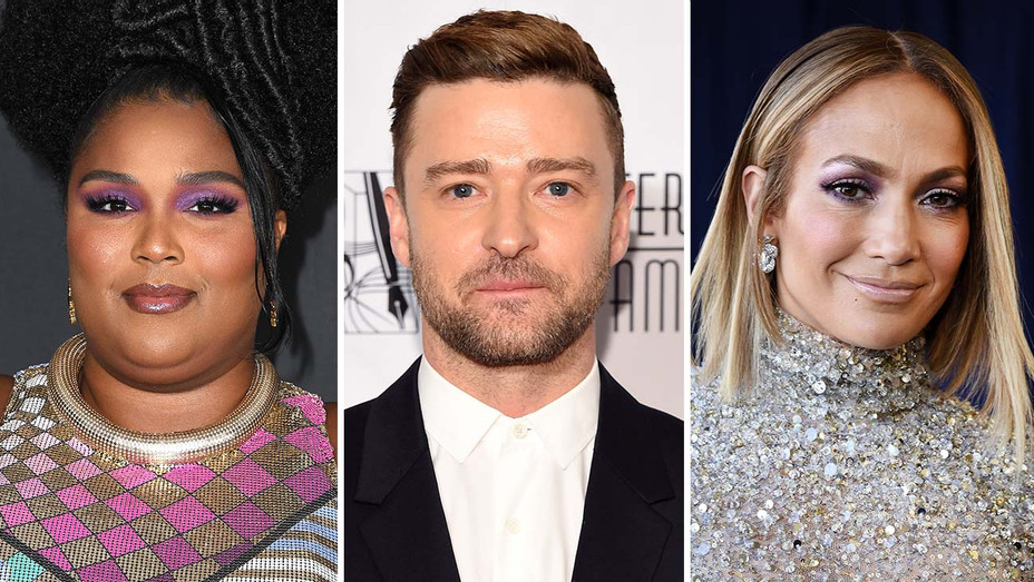 Lizzo, Justin Timberlake and JLo - Getty-H 2020