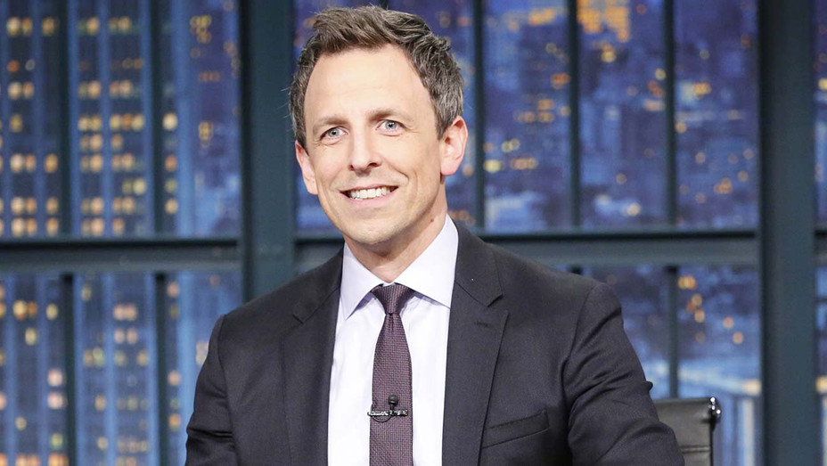 LATE NIGHT WITH SETH MEYERS -Host Seth Meyers at his desk - NBC Publicity -H 2020