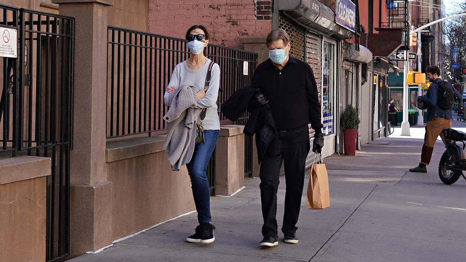 People Wearing Protective Masks in New York - H - 2020