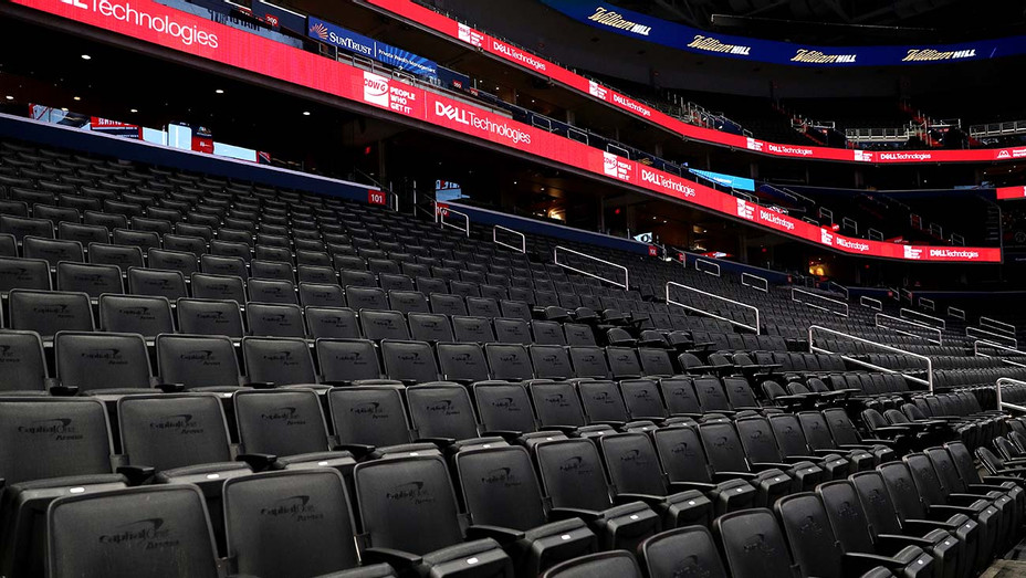 Seats are empty prior to the New York Knicks playing the Washington Wizards - March 10 2020- Getty -H 2020