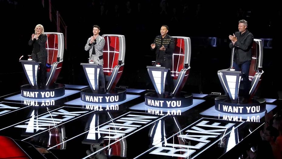 The Voice - Kelly Clarkson, Nick Jonas, John Legend, Blake Shelton - Publicity still - H 2020
